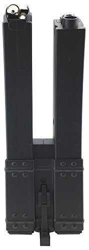 (SportPro 560 Round Polymer Double High Capacity Magazine for AEG MP5 Airsoft - Black)