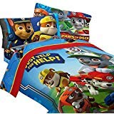 Nickelodeon 4pc Paw Patrol Twin Bedding Set Ruff Ruff Rescue Comforter and Sheet Set