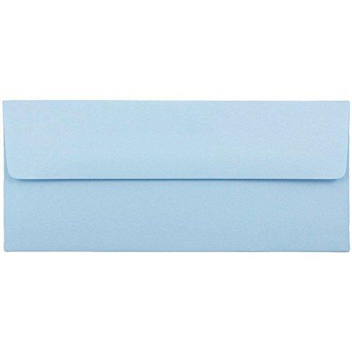 JAM PAPER #10 Business Premium Envelopes - 4 1/8 x 9 1/2 - Baby Blue - 50/Pack ()