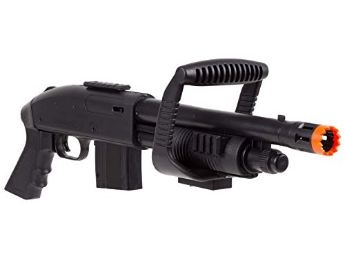 Mossberg 590 Chainsaw Spring Airsoft Shotgun Pump-Action with Picatinny Rail for Accessories