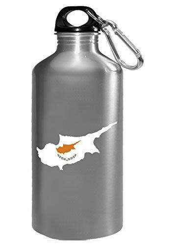 Cyprus Flag Beautiful Creative Design - Water Bottle