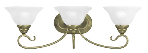 Livex Lighting 6103-01 Coronado 3 Bath Light, Antique Brass
