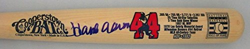 Braves Hank Aaron Autographed Signature Cooperstown Collection Limited Edition Bat 1 Auto - JSA Certified