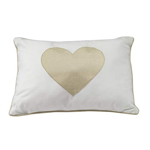 Lambs & Ivy Dawn Collection White/Gold Heart Decorative Pill