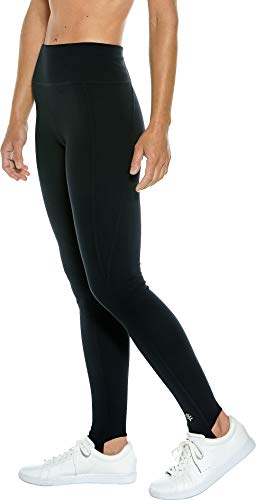 5ec9a637b32c9 Amazon.com: Coolibar UPF 50+ Women's High-Rise Asana Stirrup Yoga Leggings  - Sun Protective: Clothing