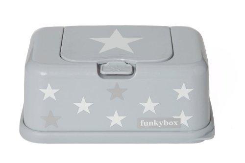 Feuchttüchter-Aufbewahrungsbox Funkybox - grau mit Stern