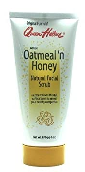 Queen Helene Oatmeal N Honey Natural Facial Scrub 6 oz. Tube 3-Pack with Free Nail File