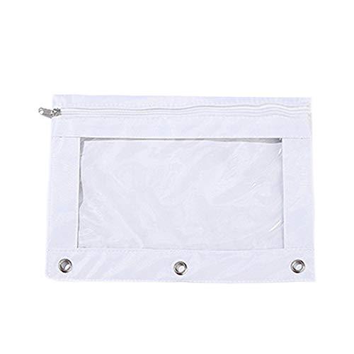 Tpingfe Pencil Case, Zipper Briefcase File Holder Folder Mesh Organizer Office Pencil Bag (A)