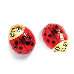 Lady Bugs Solid Milk Chocolate (1/2 Lb - Approx 14 Pcs)