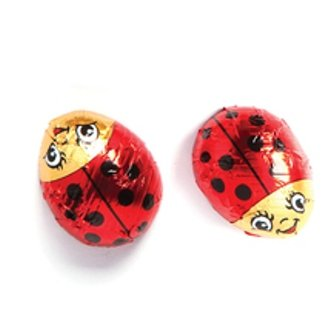 Foil Ladybugs (Lady Bugs Solid Milk Chocolate (1/2 Lb - Approx 14 Pcs))