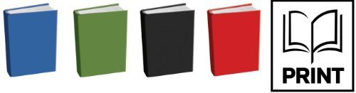 The Original Book Sox: Stretchable Jumbo Fabric Book Cover - 4 Solids & 1 Surprise Print