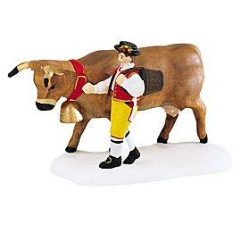 Dept 56 Alpine Village ** Leading the Bavarian Cow ** (Bavarian Village)