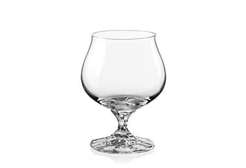 Bohemia Crystal,''Diana'', Crystal Brandy/Cognac Glasses, Set of 6, Clear, 8.45 ounces
