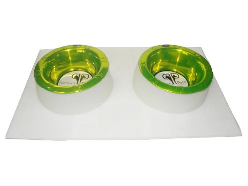 Platinum Pets 4 Cup Clear Silicone Bowl Mold Mat with Two Rimmed Bowls, Corona Lime Review