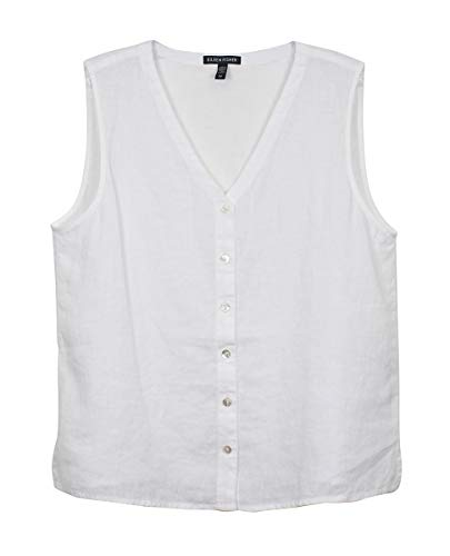 Eileen Fisher White Linen Shell Top M