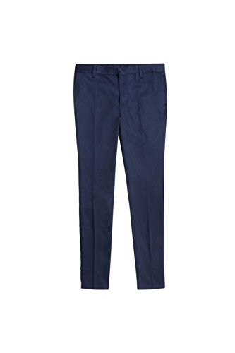 French Toast Little Girls' Stretch Twill Skinny Leg Pant, Navy, 6
