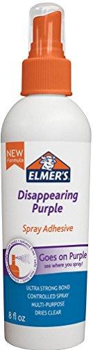 - Elmer's Adhesive Spray, 8 Oz. Disappearing Purple (E464TR)
