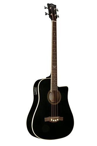 EKO Guitars 06217044 NXT Series Acoustic-Electric Bass, Black