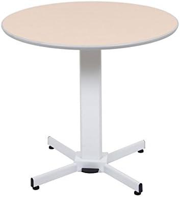 Luxor LX-PNADJ Pneumatic Round Pedestal Table