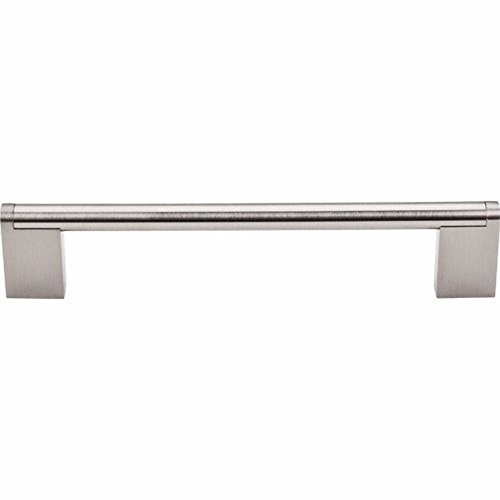 "Top Knobs M1043 Bar Pulls Collection 6-5/16"" Princetonian Steel Bar Pull, Brushed Satin Nickel"