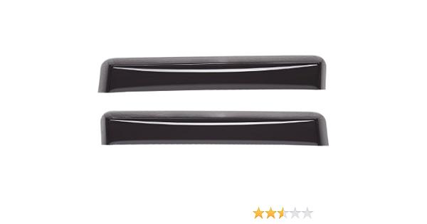 WeatherTech Custom Fit Rear Side Window Deflectors for Chevrolet Colorado Crew Cab Dark Smoke