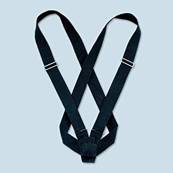 """Parade Color Guard Carrying Belt Sling 2/"""" White Web Leather Adjustable Double"""