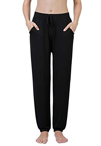 Air Curvey Soft Pajama Pants for Women Lounge Pants Black XL