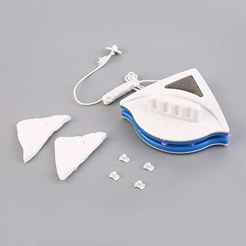 Pudincoco Conveniencia Ajustable Limpiador de Vidrio de Doble Cara Ventana magnética Adecuado para 15-22 mm Herramientas de Limpieza de Vidrio Hueco de Doble Capa (Blanco): Amazon.es: Hogar