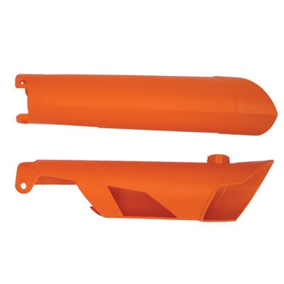 Acerbis Lower Fork Cover Set KTM Orange for KTM 450 EXC-R - 2009 Exc Ktm