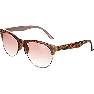 Nine West Womens Semi Rimless Brown Sunglasses One Size Brown