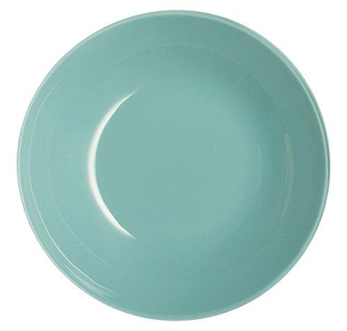 Luminarc Arty Soft Soup Plate, Glass, Green Water, 20x 20x 4cm