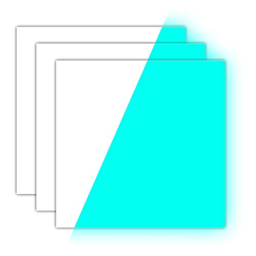 Glow in The Dark Vinyl Luminous Heat Transfer Vinyl HTV for T-Shirt 12 X 10 Glow Blue (Pack of 3)