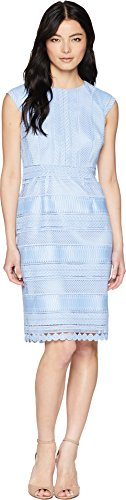 Tahari by Arthur S. Levine Women's Petite Chemical lace Dress, Periwinkle, 14P (14p Tahari)