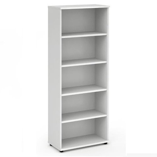 2000mm High Bookcase, Adjustable Shelves - Office Bookcase in Beech, Oak, Maple, White or Oak finish. From the Phoenix Office Furniture Range by Relax Office Furniture (Beech)