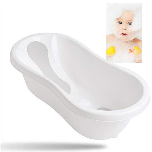 ACLBB 2 in 1 Baby Shower Basin, PP Newborn Bath Chair, Safety Non-Slip Child Bathtub, Suitable for 0-36 Months Baby, Blue, - Baby Newborn Powder Duck