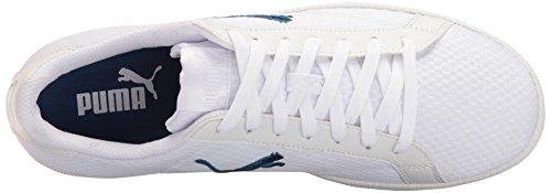 Puma Smash Katt Mesh Mote Sneaker Puma Hvit-true Blue