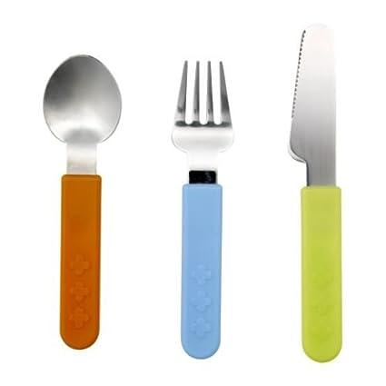IKEA SMASKA - 3 piezas de cubertería: Amazon.es: Hogar