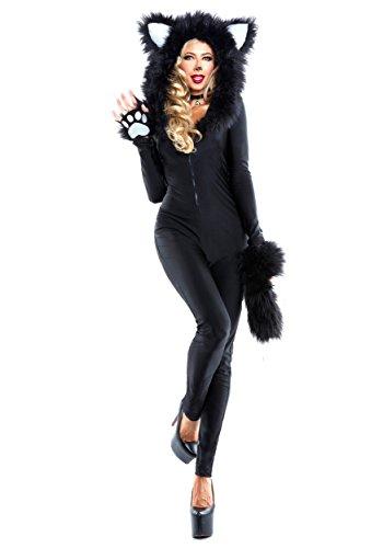 [Women's Furry Feline Costume Small] (Feline Costumes)