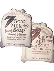 Traders Joe's Variety Pack of Goat Milk Soap + Camel Milk Soap Made with Olive Oil and Honey 4.93 oz each bar