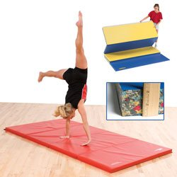 GSC 8ft Bonded Foam Gym Mat with Fasteners on Ends Only by GSC