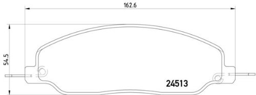 MDB2926 Brake Pad Set disc brake Rear Axle