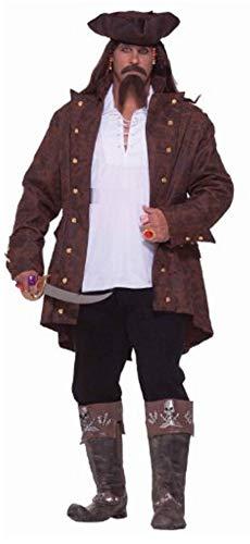 Forum Big-Tall Big Fun Pirate Captain Costume, Multi, ()