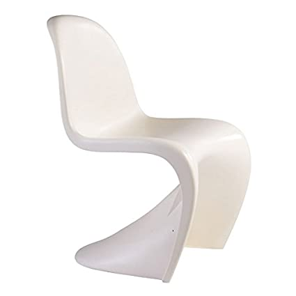 Charmant Mod Made Mid Century Modern Molded Plastic S Shape Chair Dining Chair, White