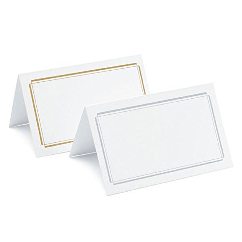Gold Border Place Cards - 3