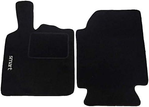 Lupex Shop 1/Alfombrillas Coche de moqueta Negra con Velcro Compatibles para Smart 2/A Serie W450/ Negro DE 1998/A 2007