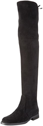 Micro Black Lined 00 01 Over 2870 London Black Women's Boots Cold Knee Strech Buffalo 1Bqptwx