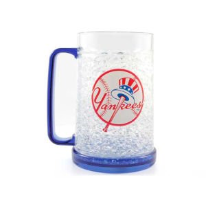 (MLB New York Yankees Freezer Mug - Insulated Acrylic Beer Glass 16 oz)