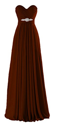 VaniaDress Women Sweetheart Long Bridesmaid Dress Evening Prom Gowns V005LF Chocolate US14 from VaniaDress
