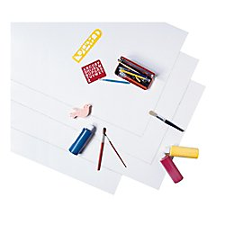Pacon PAC54607 Coated Poster Board, White 14 pt, 22'' x 28'', 25 Sheets
