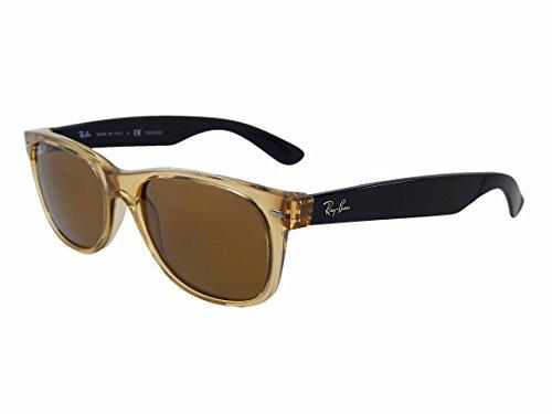 New Ray Ban Wayfarer RB2132 945/57 Honey/ Brown Classic 55mm Polarized Sunglasses